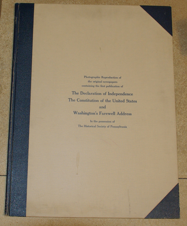 Photographic Facsimilies of The Declaration of