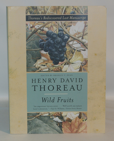 Wild Fruits Thoreaus Rediscovered Last Manuscript