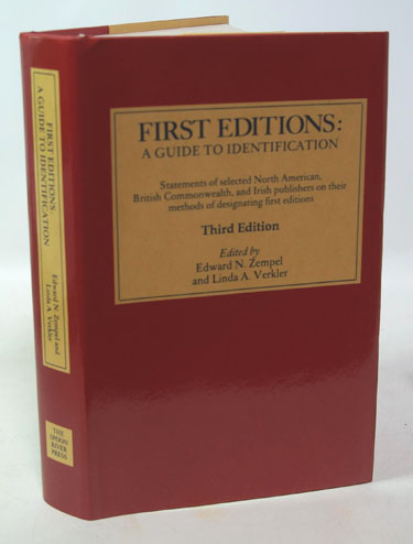 First Editions: A Guide to Identification