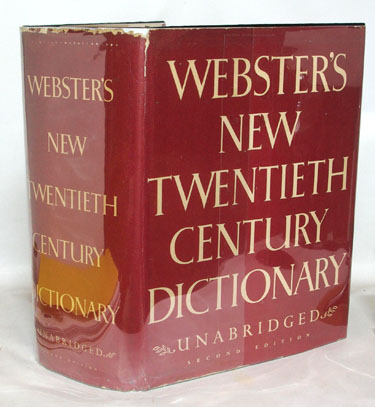 Websters New Twentieth Century Dictionary Of