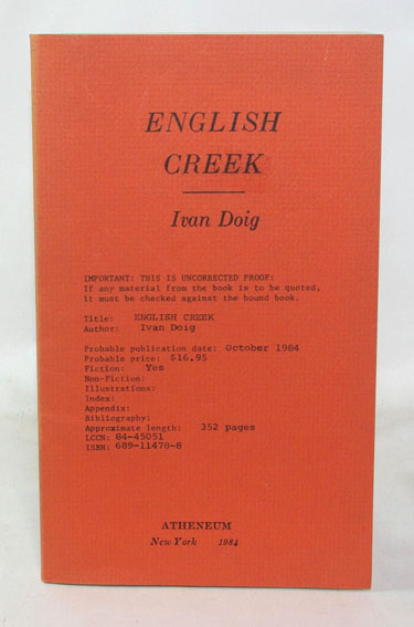 English Creek (Uncorrected Proof Copy