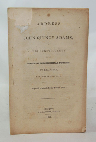 Address Of John Quincy Adams To