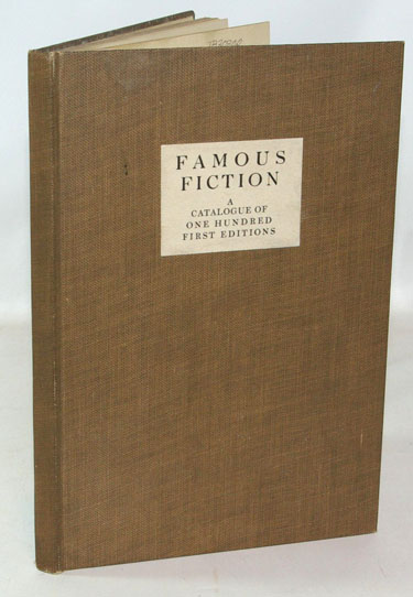 Famous Fiction. A Catalogue of One